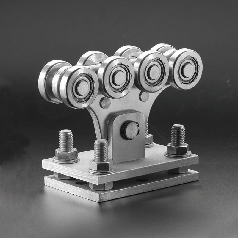 Каретка с консольными воротами (8 больших колес)